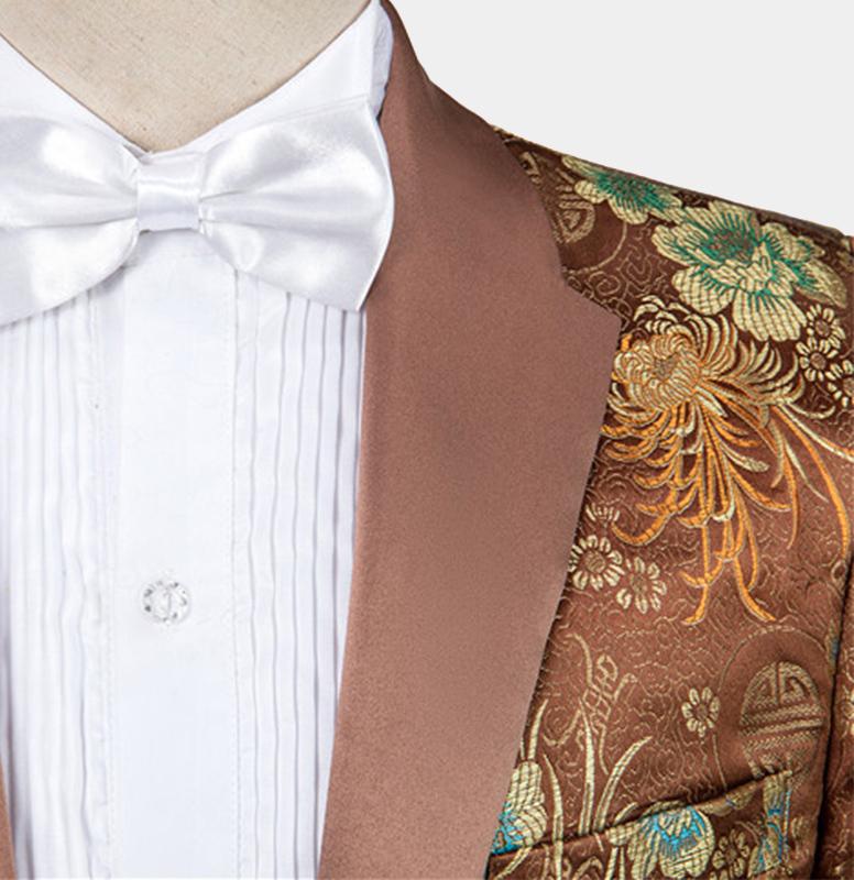 Brown-Wedding-Groom-Suit-with-Florzal-Print-from-Gentlemansguru.com