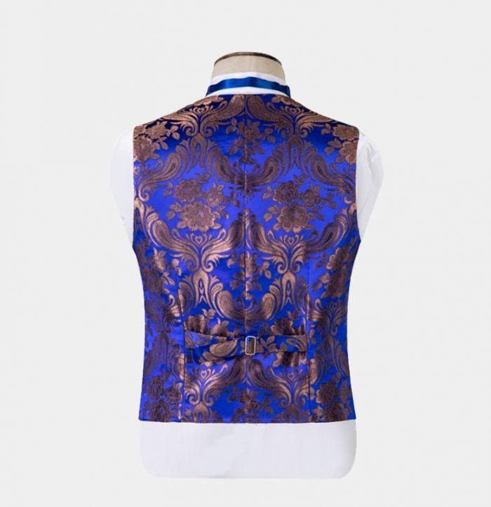 Royal-Blue-Floral-Tuxedo-Waistcoat-from-Gentlemansguru.com