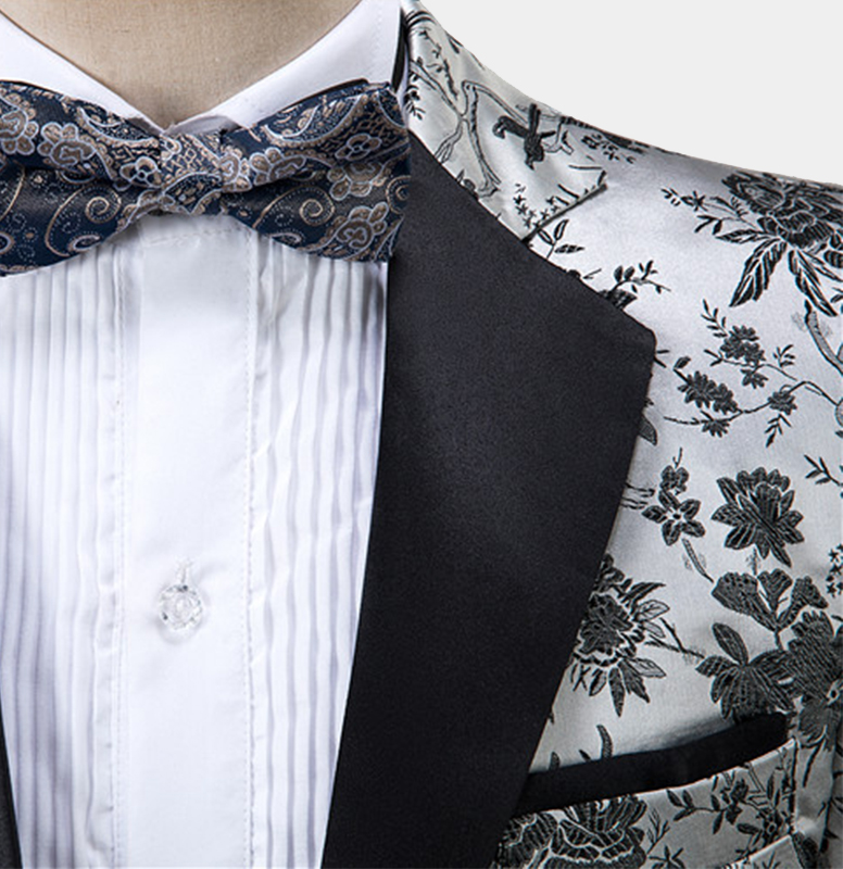 Silver-Wedding-Tuxedo-with-Floral-Prints-from-Gentlemansguru.com