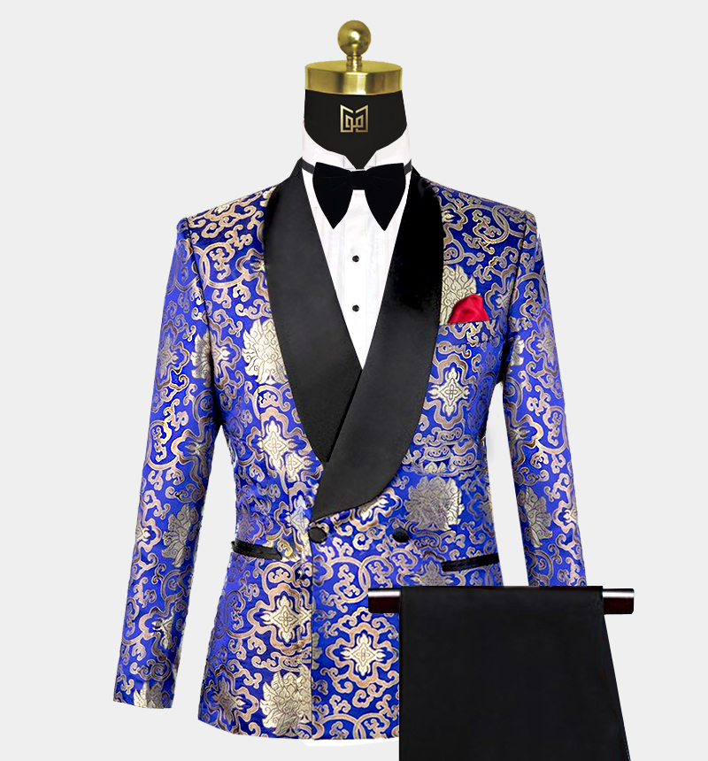Gold-and-Blue-Tuxedo-Wedding-Prom-Suit-from-Gentlemansguru.com