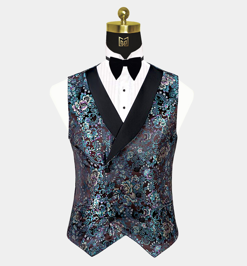 Mint-Green-Floral-Tuxedo-Vest-from-Gentlemansguru.com
