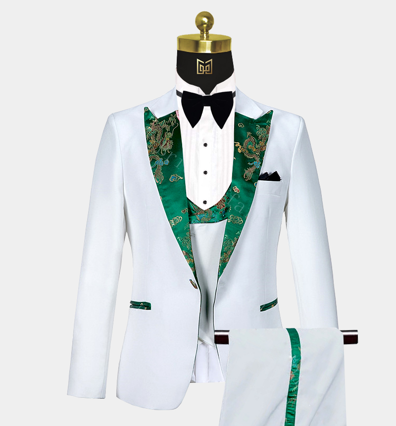 White-and-Green-Tuxedo-Wedding-Prom-Suit-from-Gentlemansguru.com