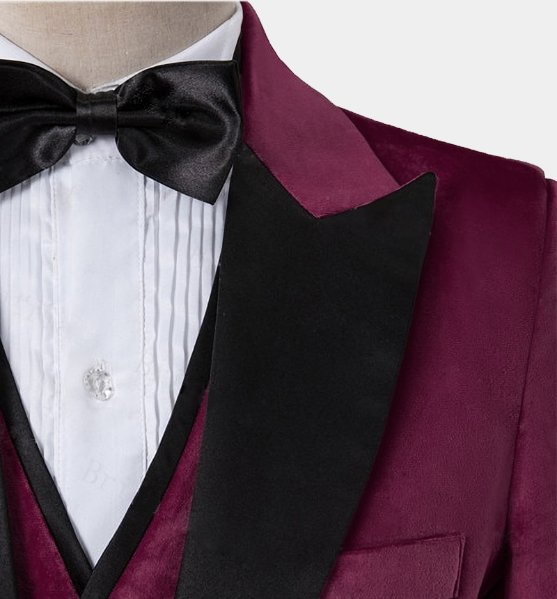 Mens-Burgundy-Crushed-Velvet-Tuxedo-Blazre-Wedding-Prom-Jacket-rental-from-Gentlemansguru.com