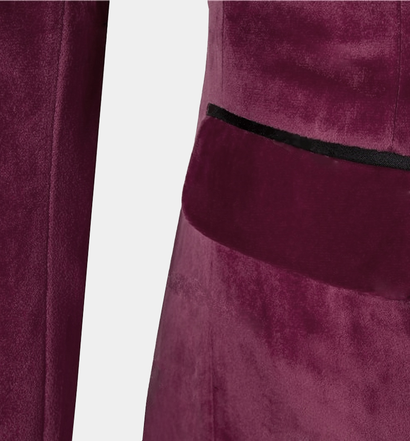 Mens-Burgundy-Velvet-Tuxedo-Jacket-Wedding-Prom-Blazer-from-Gentlemansguru.com
