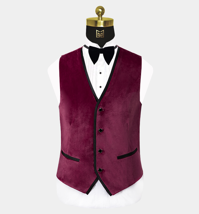 Mens-Burgundy-Velvet-Tuxedo-Vest-Wedding-Waistcoat-from-Gentlemansguru.com (2)