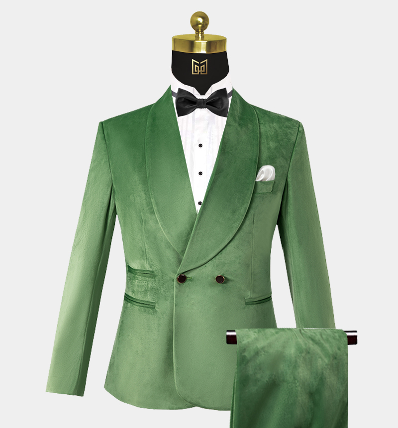 Mens-Double-Breasted-Green-Velvet-Tuxedo-Wedding-Prom-Suit-from-Gentlemansguru.com