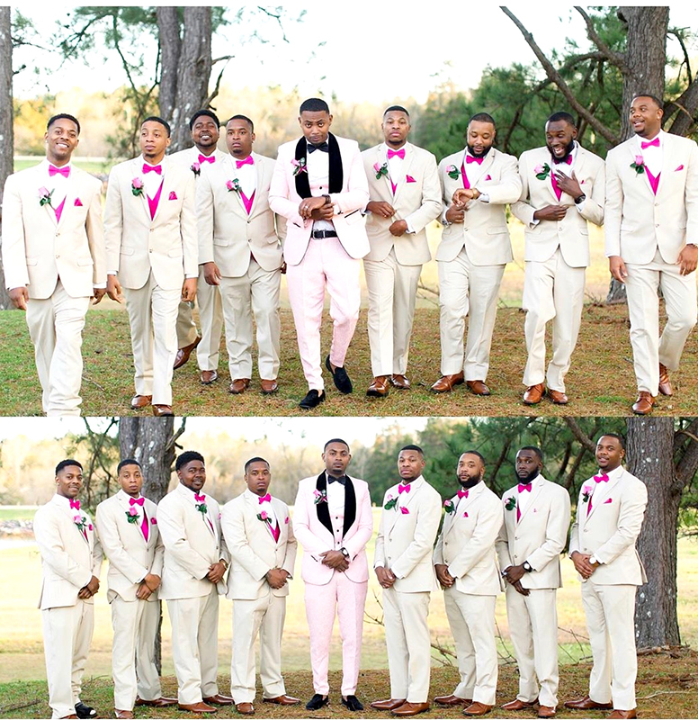 Customer-Review-Pink-Wedding-Groomsmen-Tuxedo-Suit-from-Gentlemansguru.com