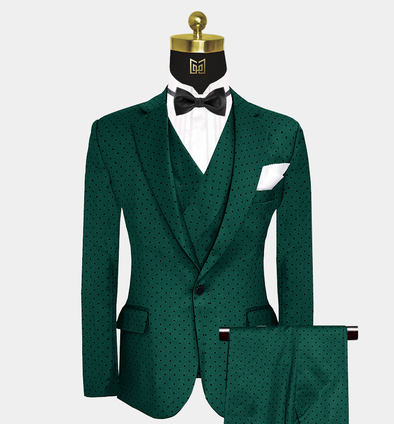 Emerald-Green-Polka-Dot-Suit-Wedding-Prom-Outfit-from Gentlemansguru.com