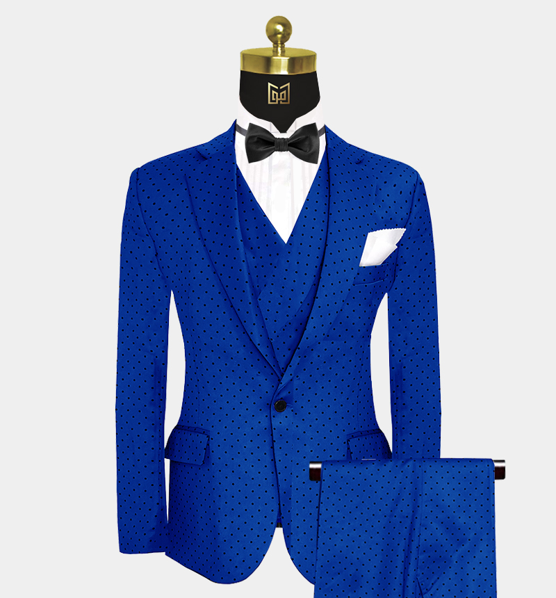 Royal-Blue-Polka-Dot-Suit-Wedding-Prom-Outfit-from Gentlemansguru.com