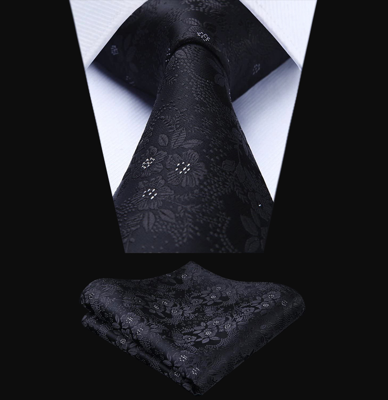 Black-Floral-Tie-Set-from-Gentlemansguru.com