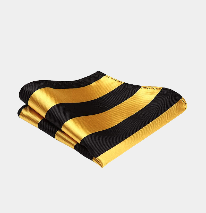 Black-and-Gold-Striped-Pocket-Square-from-Gentlemansguru.com