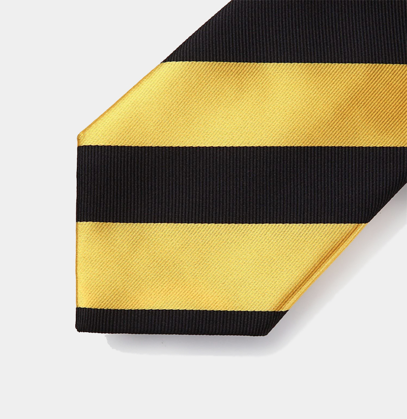 Gold-and-Black-Striped-Tie-Set-from-Gentlemansguru.com