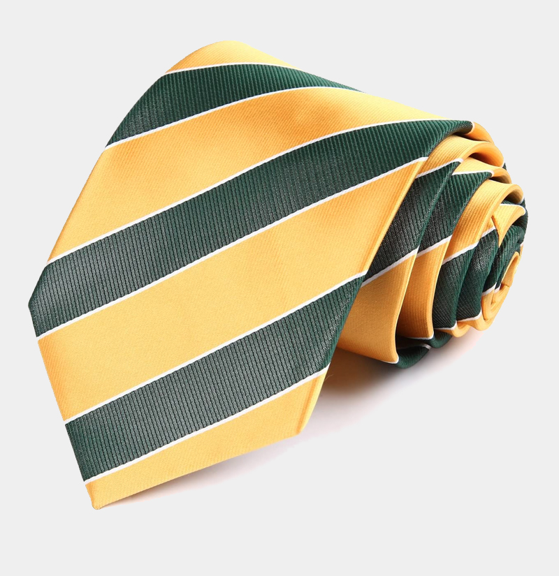 Gold-and-Green-Striped-Necktie-from-Gentlemansguru.com