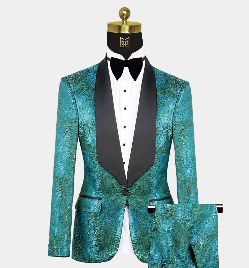 Green-Prom-Suit-Wedding-Tuxedo-from-Gentlemansguru.com