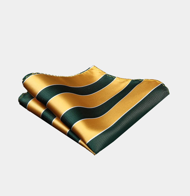 Green-and-Gold-Striped-Pocket-Square-from-Gentlemansguru.com