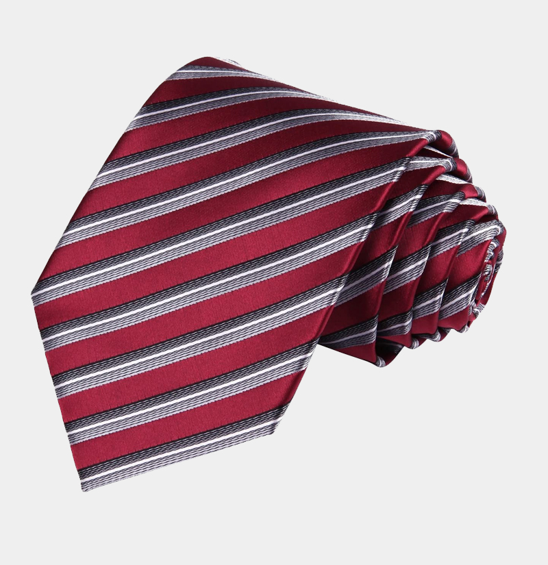 Marron-Striped-Tie-from-Gentlemansguru.com