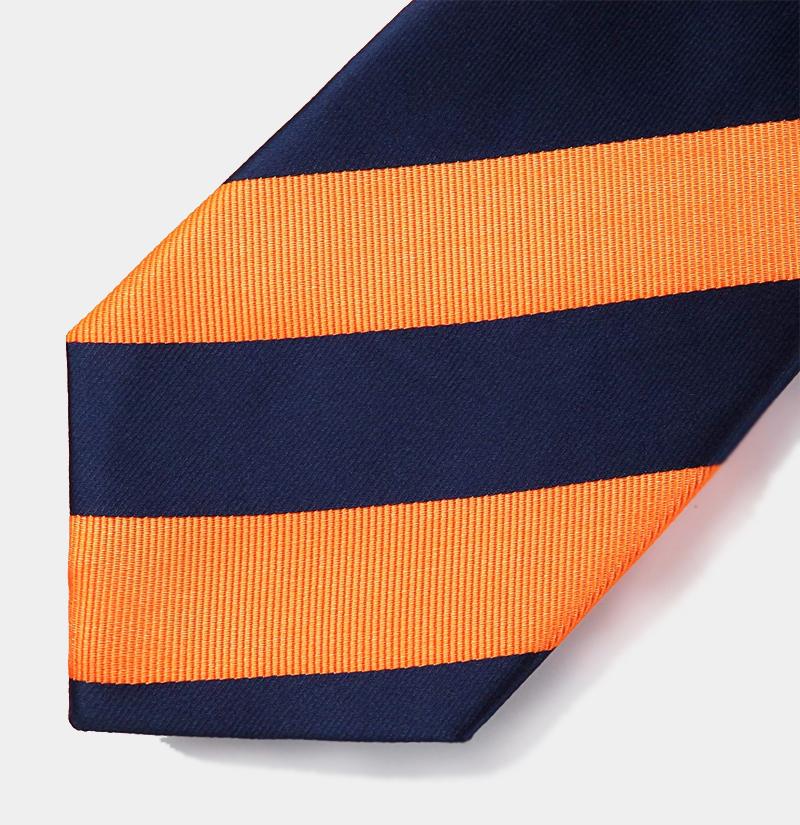 Navy-Blue-and-Orange-Tie-from-Gentlemansguru.com