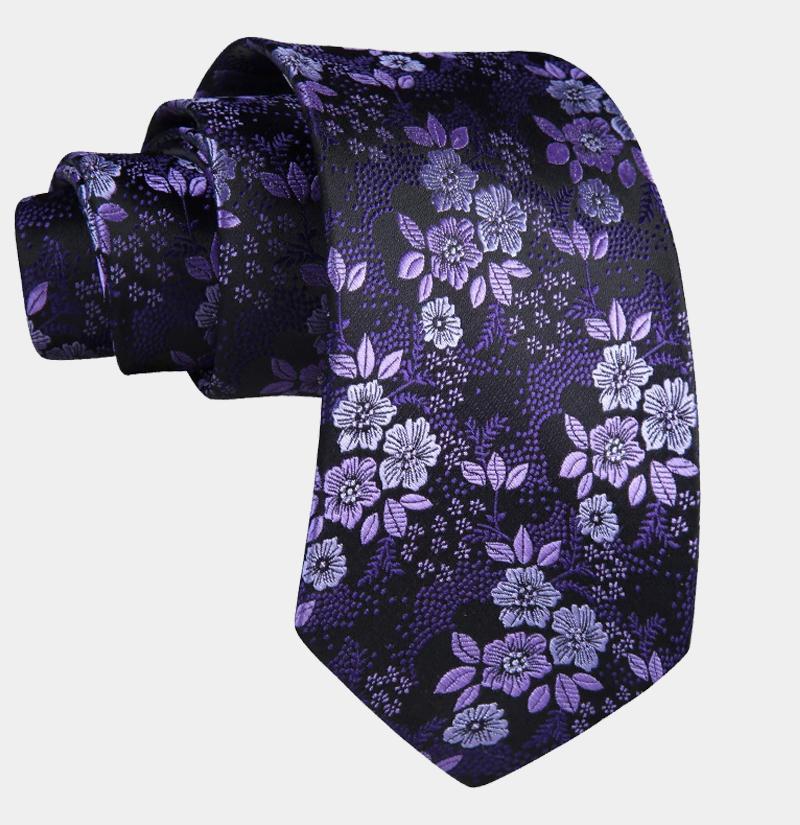 Purple-and-Black-Tie-Set-from-Gentlemansguru.com