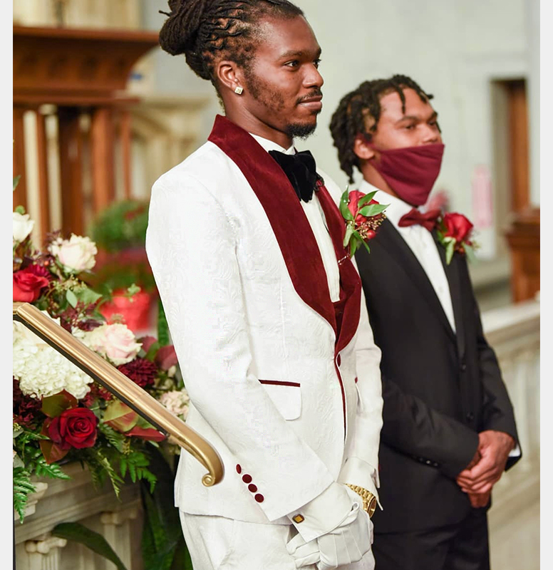 Customer-Gallery-Review-Groom-Wedding-Burgundy-and-White-Tuxedo-from-Gentlemansguru.com