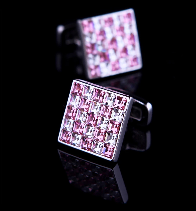 Mens-Pink-Crystal-Cufflinks-from-Gentlemansguru.com