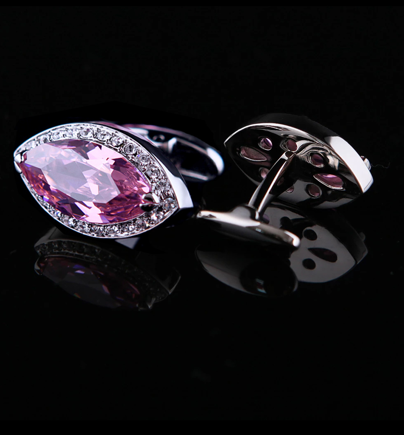 Pink-Crystal-Cufflinks-from-Gentlemansguru.com