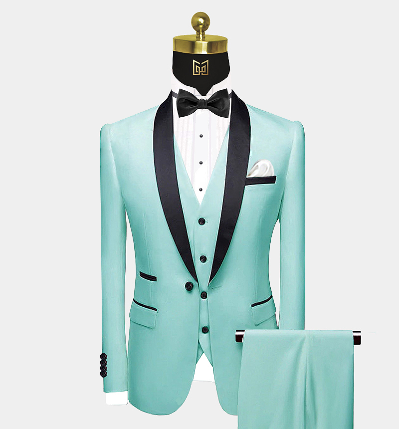 Mens-3-Piece-Mint-Green-Tuxedo-Wedding-Groom-Prom-Suit-from-Gentlemansguru.com