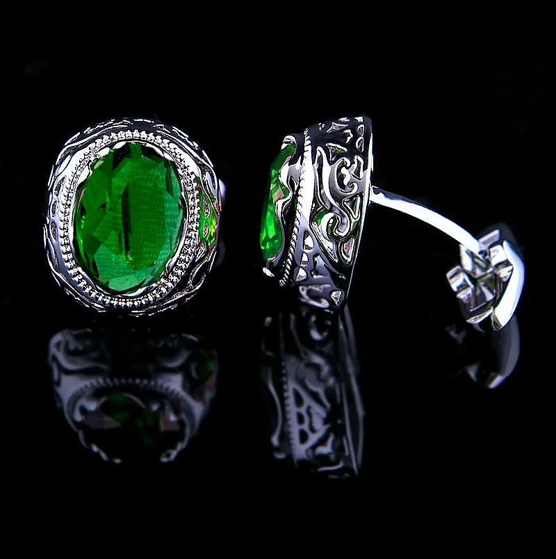 Mens-Green-Rsuby-Cufflinks-from-Gentlemansguru.com