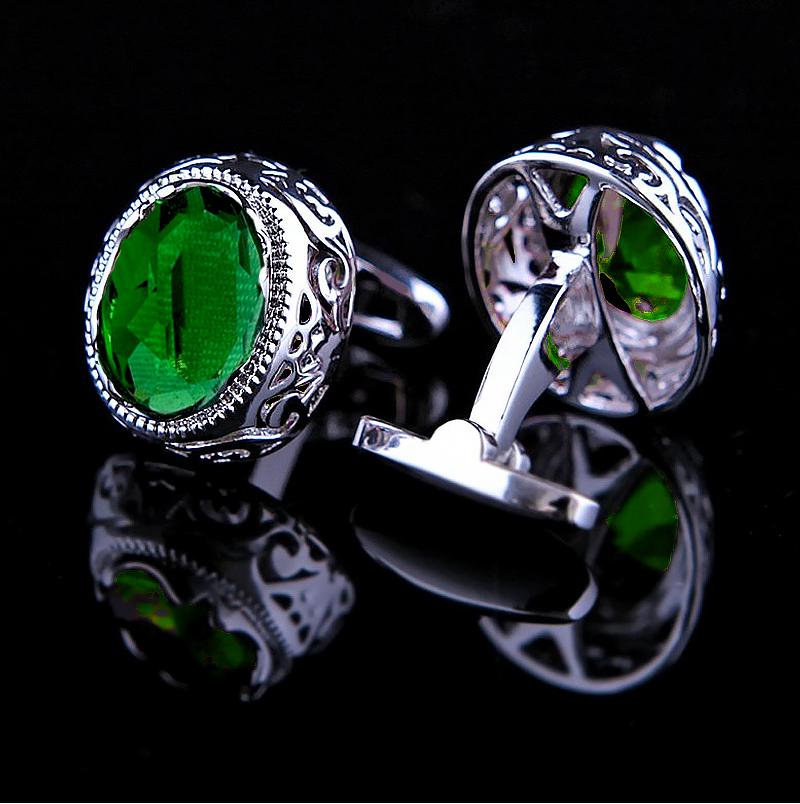 Mens-Green-Crystal-Ruby-Cufflinks-from-Gentlemansguru.com