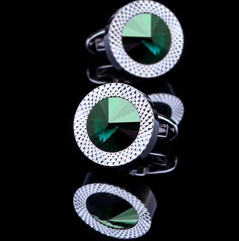 Round-emerald-Green-Crystal-Cufflinks-from-Gentlemansguru.com
